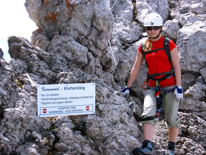 Foto: Andreas Koller / Klettersteig Tour / Karwendelspitze Klettersteig (2385m) / Ausstieg vom Klettersteig / 27.05.2009 23:08:35