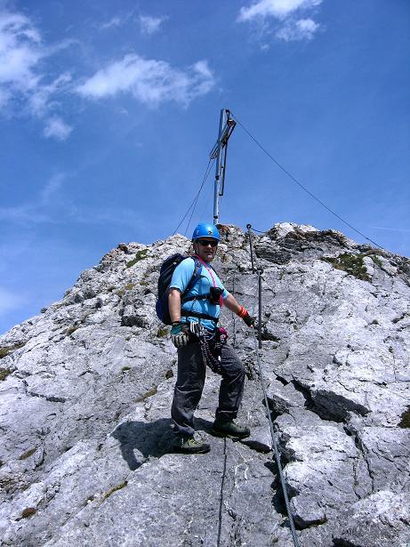 Foto: Andreas Koller / Klettersteig Tour / Karwendelspitze Klettersteig (2385m) / Die letzten Meter zum Gipfel / 27.05.2009 23:08:17