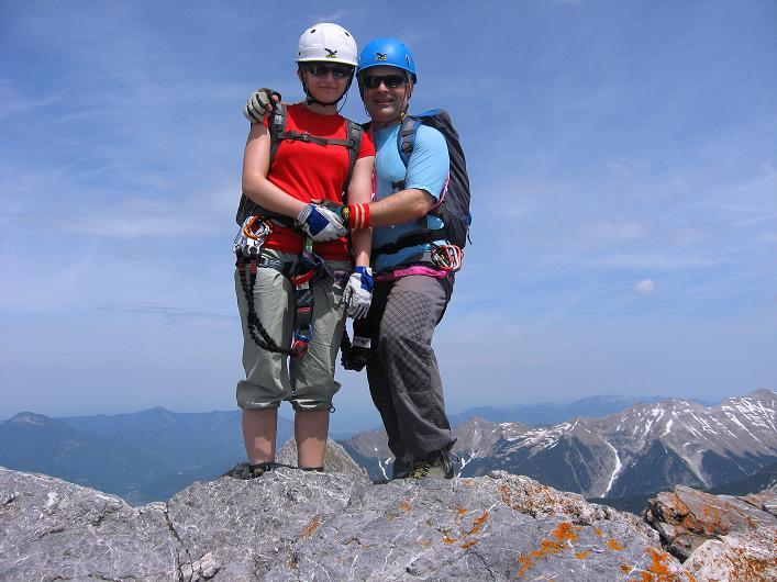 Foto: Andreas Koller / Klettersteig Tour / Karwendelspitze Klettersteig (2385m) / Am Gipfel der Westlichen Karwendelspitze / 27.05.2009 23:08:02