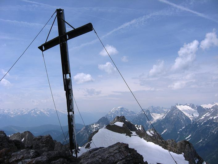 Foto: Andreas Koller / Klettersteig Tour / Karwendelspitze Klettersteig (2385m) / Impressionen am Gipfel / 27.05.2009 23:06:55