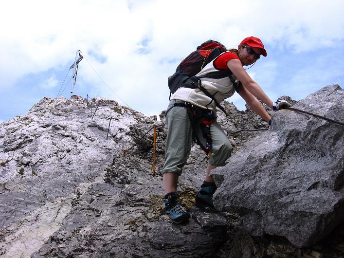 Foto: Andreas Koller / Klettersteig Tour / Karwendelspitze Klettersteig (2385m) / Abstieg am Normalweg / 27.05.2009 23:05:56