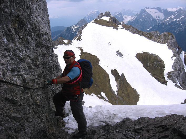 Foto: Andreas Koller / Klettersteig Tour / Karwendelspitze Klettersteig (2385m) / 27.05.2009 23:05:42