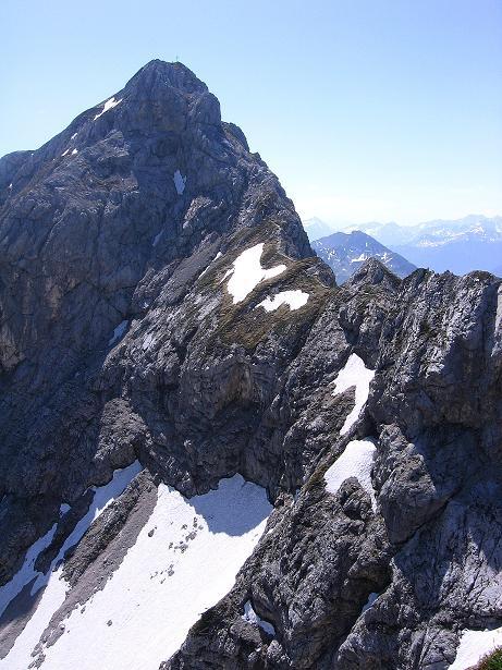 Foto: Andreas Koller / Klettersteig Tour / Friedberger Klettersteig und Steig auf die Rote Flüh (2111m) / Der Verbindungsgrat Schartenschrofen - Rote Flüh / 27.05.2009 01:11:50