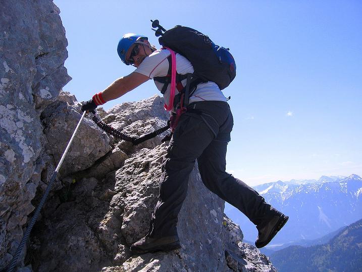 Foto: Andreas Koller / Klettersteig Tour / Friedberger Klettersteig und Steig auf die Rote Flüh (2111m) / 27.05.2009 01:09:17