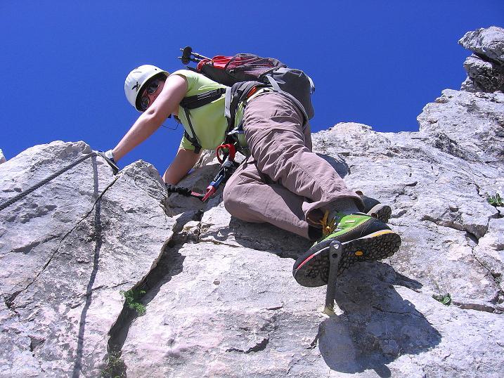 Foto: Andreas Koller / Klettersteig Tour / Friedberger Klettersteig und Steig auf die Rote Flüh (2111m) / 27.05.2009 01:09:08