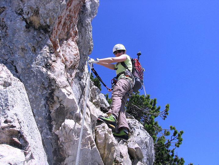 Foto: Andreas Koller / Klettersteig Tour / Friedberger Klettersteig und Steig auf die Rote Flüh (2111m) / 27.05.2009 01:08:59