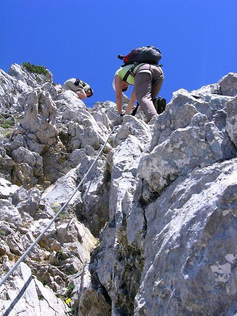 Foto: Andreas Koller / Klettersteig Tour / Friedberger Klettersteig und Steig auf die Rote Flüh (2111m) / 27.05.2009 01:08:17