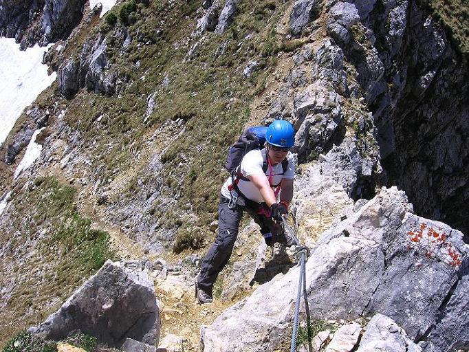Foto: Andreas Koller / Klettersteig Tour / Friedberger Klettersteig und Steig auf die Rote Flüh (2111m) / 27.05.2009 01:07:58