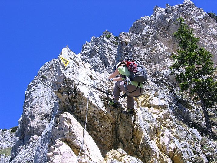Foto: Andreas Koller / Klettersteig Tour / Friedberger Klettersteig und Steig auf die Rote Flüh (2111m) / 27.05.2009 01:07:14