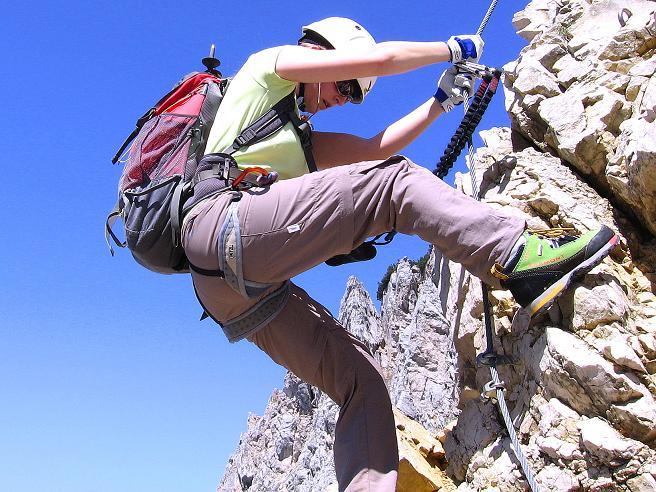 Foto: Andreas Koller / Klettersteig Tour / Friedberger Klettersteig und Steig auf die Rote Flüh (2111m) / 27.05.2009 01:06:47