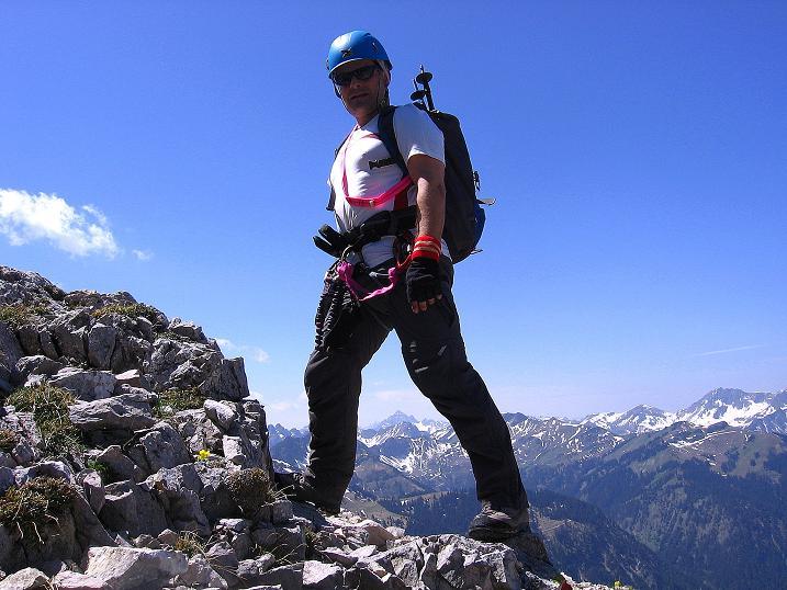 Foto: Andreas Koller / Klettersteig Tour / Friedberger Klettersteig und Steig auf die Rote Flüh (2111m) / 27.05.2009 01:03:08