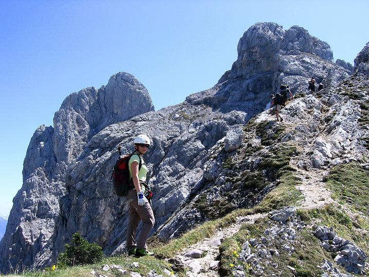 Foto: Andreas Koller / Klettersteig Tour / Friedberger Klettersteig und Steig auf die Rote Flüh (2111m) / 27.05.2009 01:02:49