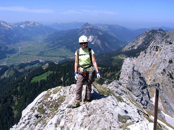 Foto: Andreas Koller / Klettersteig Tour / Friedberger Klettersteig und Steig auf die Rote Flüh (2111m) / 27.05.2009 01:01:52