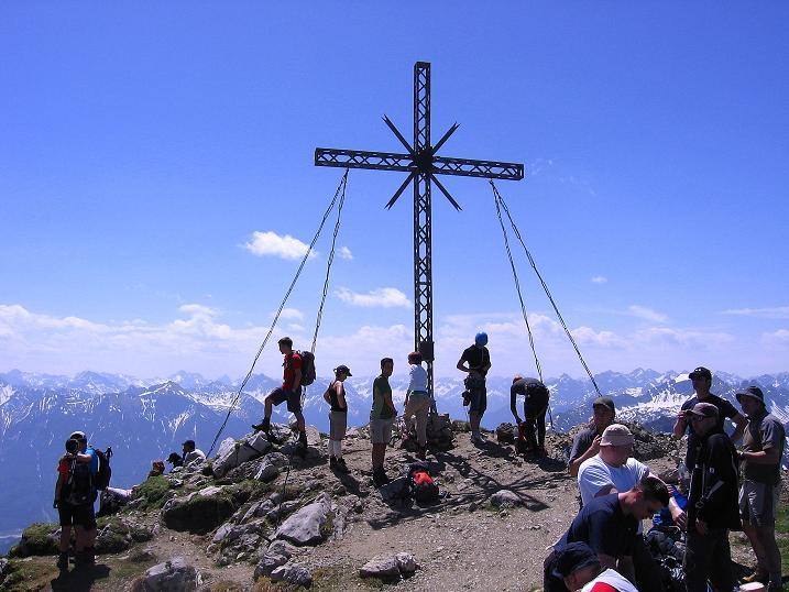 Foto: Andreas Koller / Klettersteig Tour / Friedberger Klettersteig und Steig auf die Rote Flüh (2111m) / An Gipfel der Roten Flüh / 27.05.2009 00:58:35