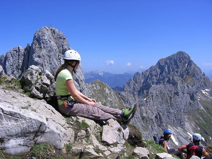 Foto: Andreas Koller / Klettersteig Tour / Friedberger Klettersteig und Steig auf die Rote Flüh (2111m) / 27.05.2009 00:57:53