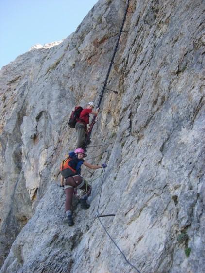 Foto: winsch / Klettersteig Tour / Haid Steig / Einstiegsleiter / 02.06.2009 13:40:19