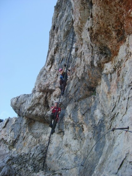 Foto: winsch / Klettersteig Tour / Haid Steig / 2. Leiter / 02.06.2009 13:41:39