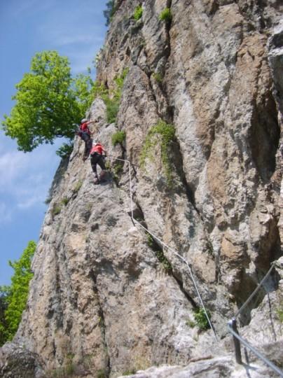Foto: winsch / Klettersteig Tour / Luft unter den Sohlen / Quergang / 02.06.2009 14:48:05
