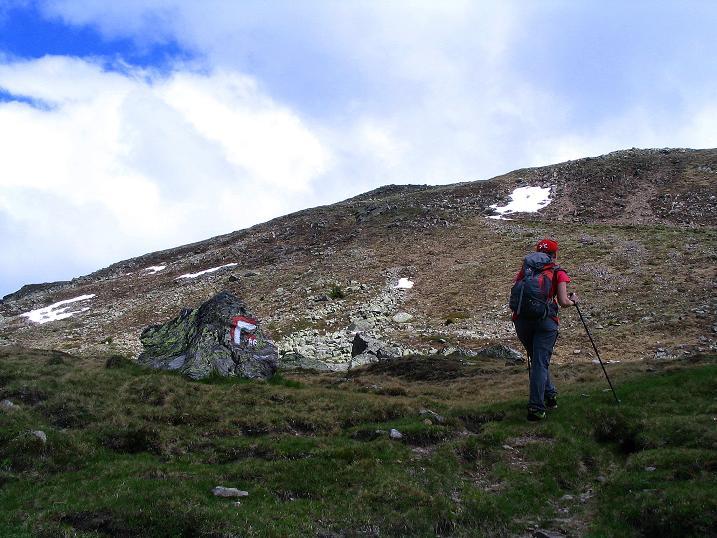 Foto: Andreas Koller / Wander Tour / Einsame Tour auf die Hochtristen (2536m) / Anstieg zum Nassfeldriegel (2238 m) / 03.06.2009 21:45:30