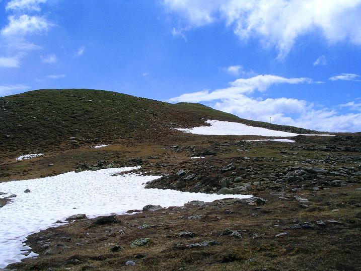 Foto: Andreas Koller / Wander Tour / Einsame Tour auf die Hochtristen (2536m) / Der unschwierige Gipfel des Nassfeldriegel (2238 m) / 03.06.2009 21:42:58