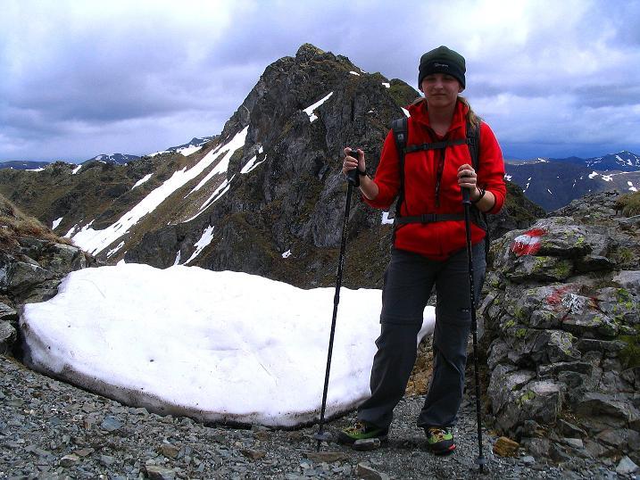 Foto: Andreas Koller / Wander Tour / Einsame Tour auf die Hochtristen (2536m) / In der Sensenscharte (2410 m) / 03.06.2009 21:39:47