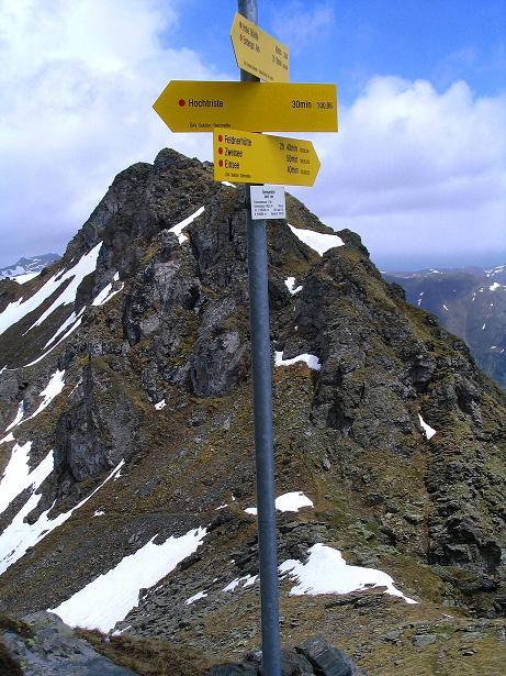 Foto: Andreas Koller / Wander Tour / Einsame Tour auf die Hochtristen (2536m) / Zurück in der Sensenscharte / 03.06.2009 21:35:19
