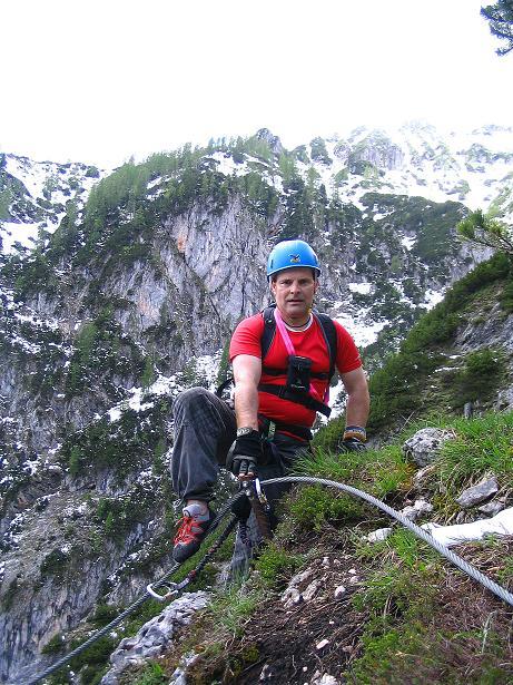 Foto: Andreas Koller / Klettersteig Tour / Klettersteig Siega (1510m) / Ausstieg im Wald / 04.06.2009 21:48:36