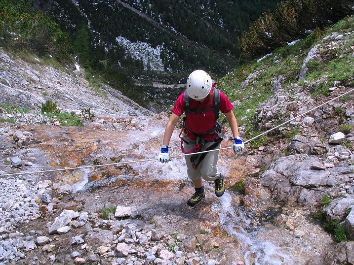 Foto: Andreas Koller / Klettersteig Tour / Klettersteig Siega (1510m) / Bachquerung / 04.06.2009 21:46:18
