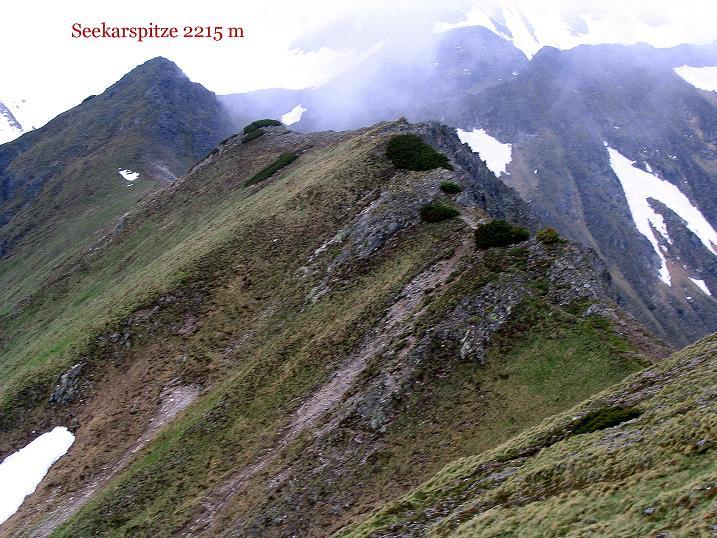 Foto: Andreas Koller / Wander Tour / Auf Gamsspuren über die Seekarspitze (2115m) / Der Grat von der Seekarspitze zur Großen Rübe / 07.06.2009 18:28:30