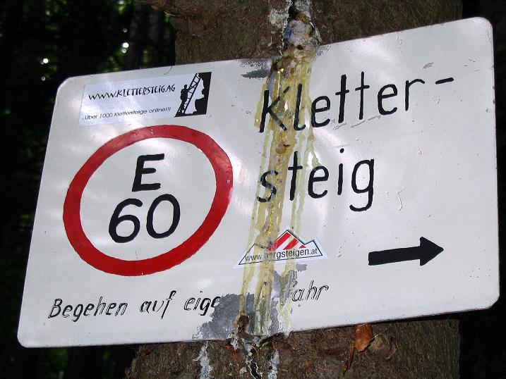 Foto: Andreas Koller / Klettersteig Tour / Klettersteig E 60 (758m) / 09.06.2009 00:01:00