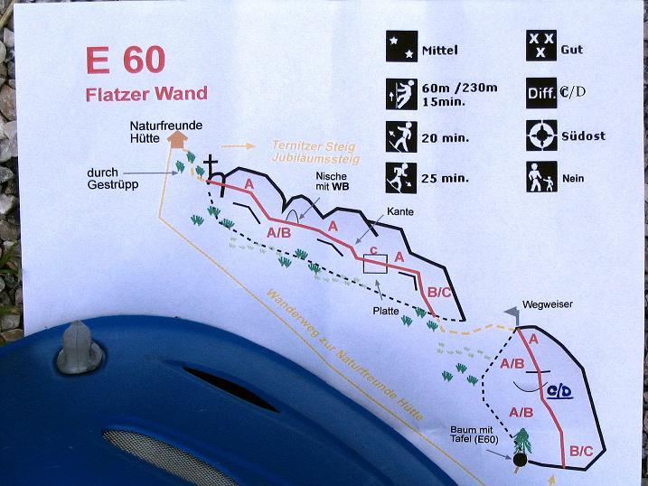 Foto: Andreas Koller / Klettersteig Tour / Klettersteig E 60 (758m) / 09.06.2009 00:00:55