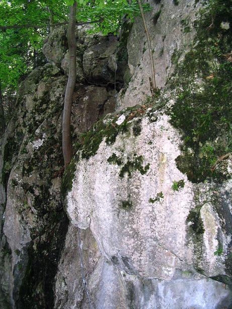 Foto: Andreas Koller / Klettersteig Tour / Klettersteig E 60 (758m) / Das Einstiegswandl / 09.06.2009 00:00:49