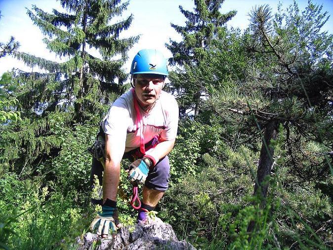 Foto: Andreas Koller / Klettersteig Tour / Klettersteig E 60 (758m) / Ende des 1.Abschnitts / 08.06.2009 23:59:42