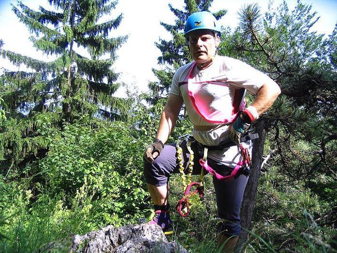 Foto: Andreas Koller / Klettersteig Tour / Klettersteig E 60 (758m) / 08.06.2009 23:59:18