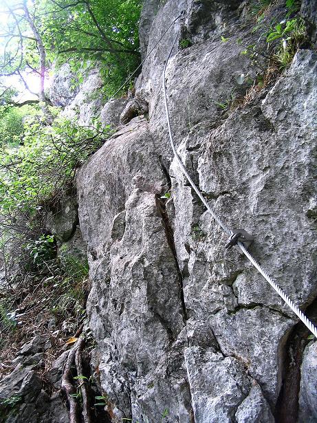 Foto: Andreas Koller / Klettersteig Tour / Klettersteig E 60 (758m) / 08.06.2009 23:58:04