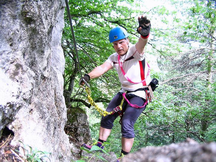 Foto: Andreas Koller / Klettersteig Tour / Klettersteig E 60 (758m) / 08.06.2009 23:57:36