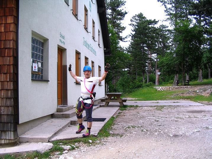 Foto: Andreas Koller / Klettersteig Tour / Klettersteig E 60 (758m) / Ausstieg beim Neunkirchner Natufreundehaus / 08.06.2009 23:52:58