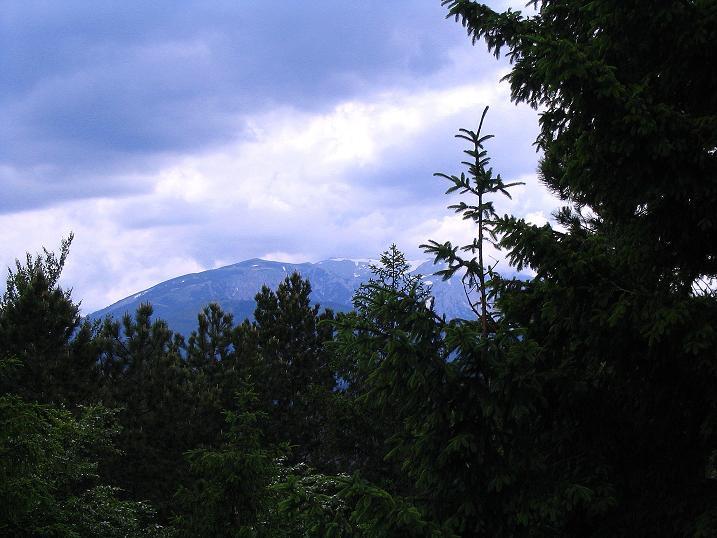 Foto: Andreas Koller / Klettersteig Tour / Klettersteig E 60 (758m) / Blick zum Schneeberg (2076 m) / 08.06.2009 23:52:27