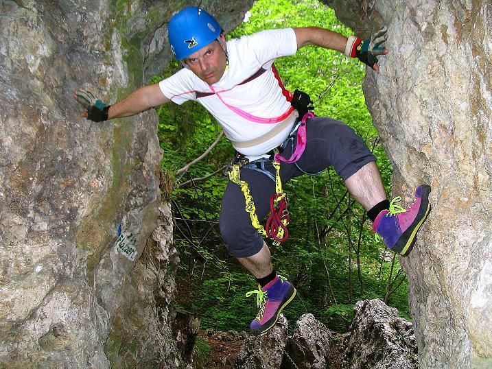Foto: Andreas Koller / Klettersteig Tour / Klettersteig E 60 (758m) / 08.06.2009 23:49:38