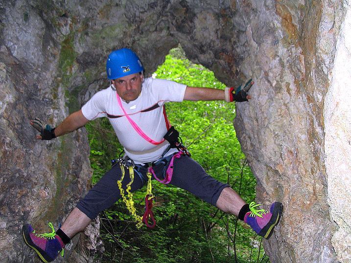 Foto: Andreas Koller / Klettersteig Tour / Klettersteig E 60 (758m) / 08.06.2009 23:49:29
