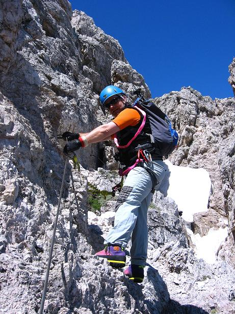 Foto: Andreas Koller / Klettersteig Tour / Via ferrata Averau neu (2649m) / 15.06.2009 23:56:04