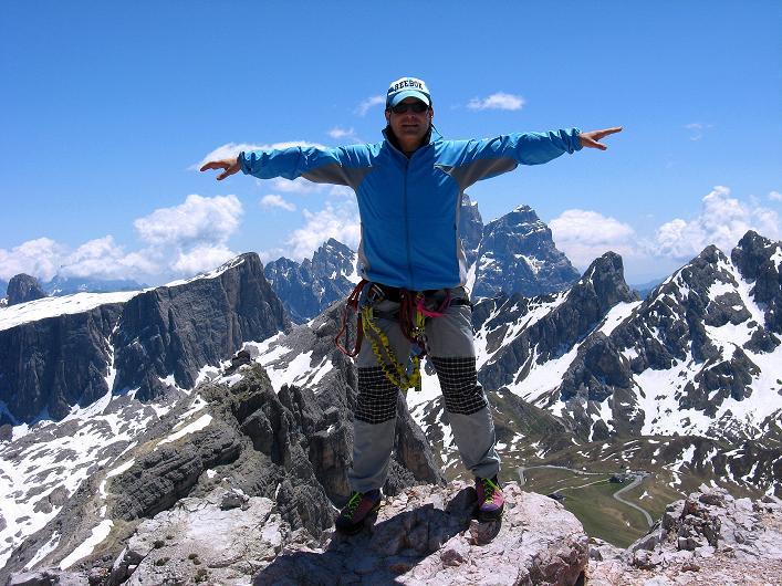Foto: Andreas Koller / Klettersteig Tour / Via ferrata Averau neu (2649m) / 15.06.2009 23:50:25