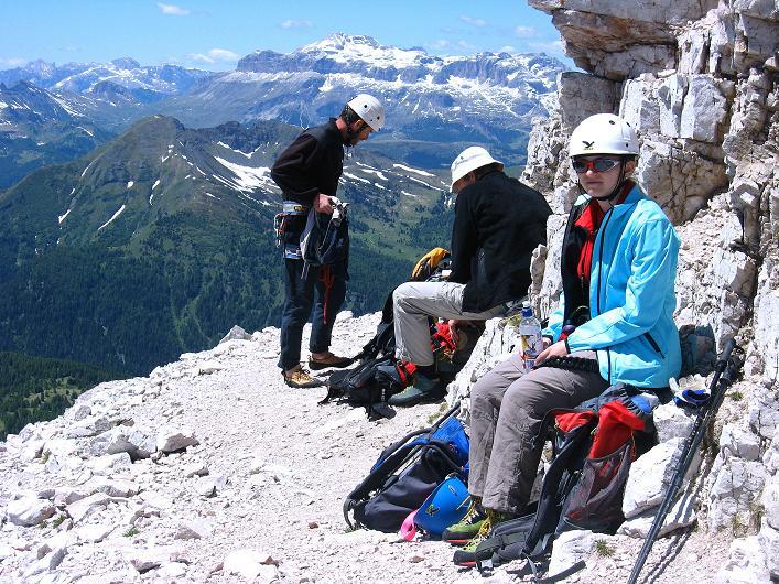 Foto: Andreas Koller / Klettersteig Tour / Via ferrata Averau neu (2649m) / 15.06.2009 23:50:08