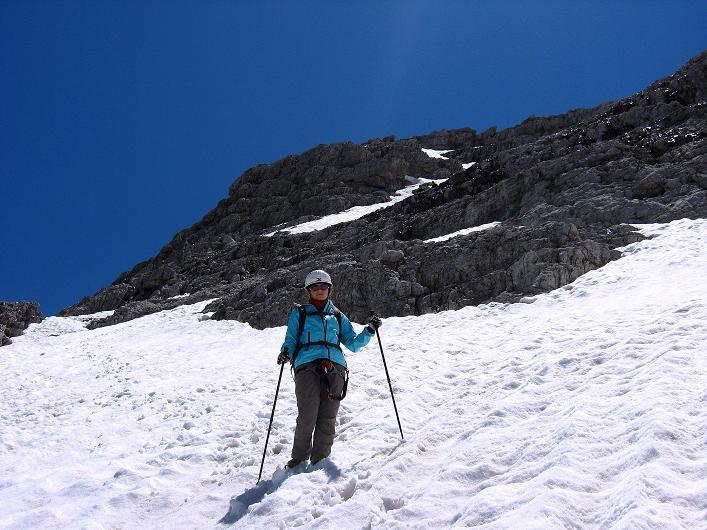 Foto: Andreas Koller / Klettersteig Tour / Via ferrata Averau neu (2649m) / Abstieg über Schneefelder / 15.06.2009 23:49:16