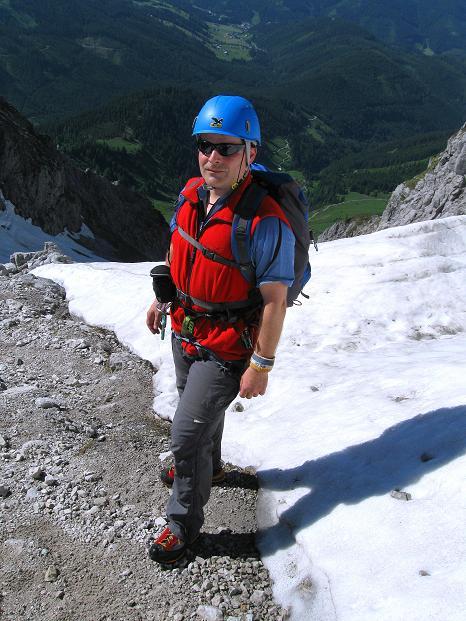 Foto: Andreas Koller / Wander Tour / Normalroute auf die Große Bischofsmütze (2459 m)  / Am Anseilplatz / 16.06.2009 23:34:15