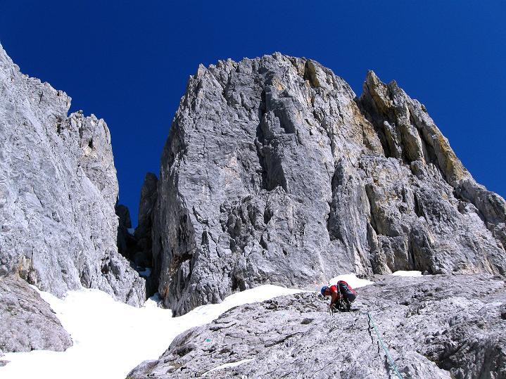 Foto: Andreas Koller / Wander Tour / Normalroute auf die Große Bischofsmütze (2459 m)  / Die Große Bischofsmütze / 16.06.2009 23:33:15