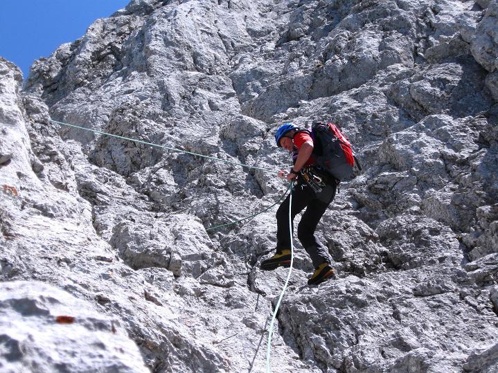 Foto: Andreas Koller / Wander Tour / Normalroute auf die Große Bischofsmütze (2459 m)  / Abseilen / 16.06.2009 23:23:18