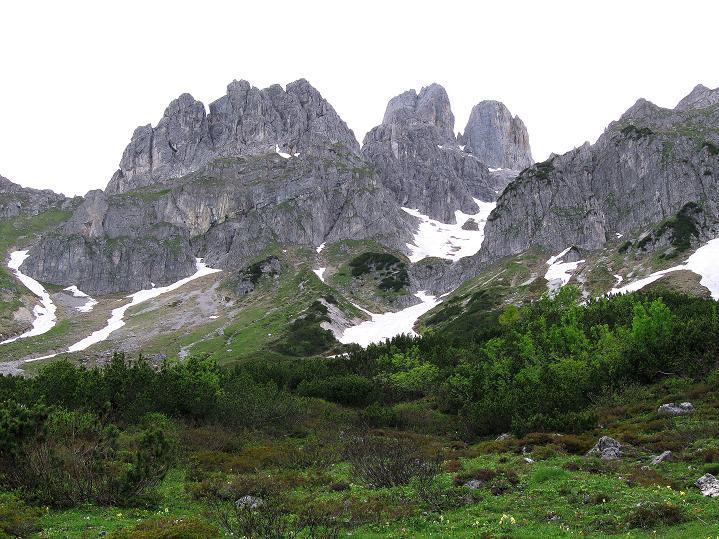 Foto: Andreas Koller / Wander Tour / Normalroute auf die Große Bischofsmütze (2459 m)  / Rückblick auf die Bishofsmütze / 16.06.2009 23:19:39