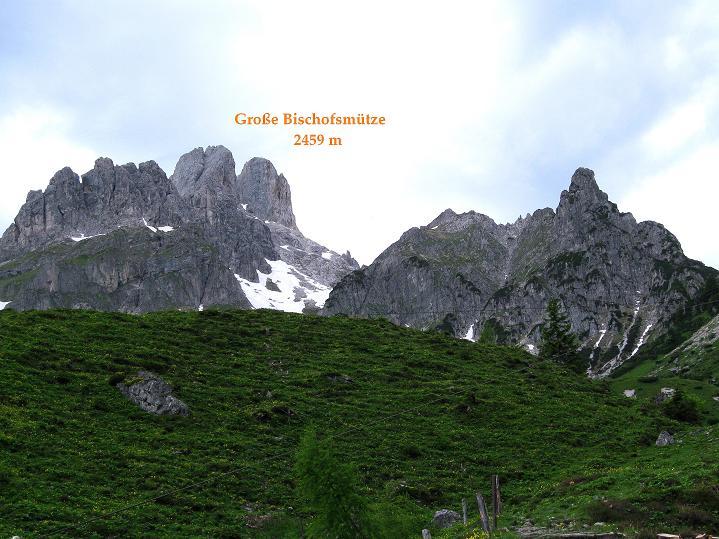 Foto: Andreas Koller / Wander Tour / Normalroute auf die Große Bischofsmütze (2459 m)  / 16.06.2009 23:19:18