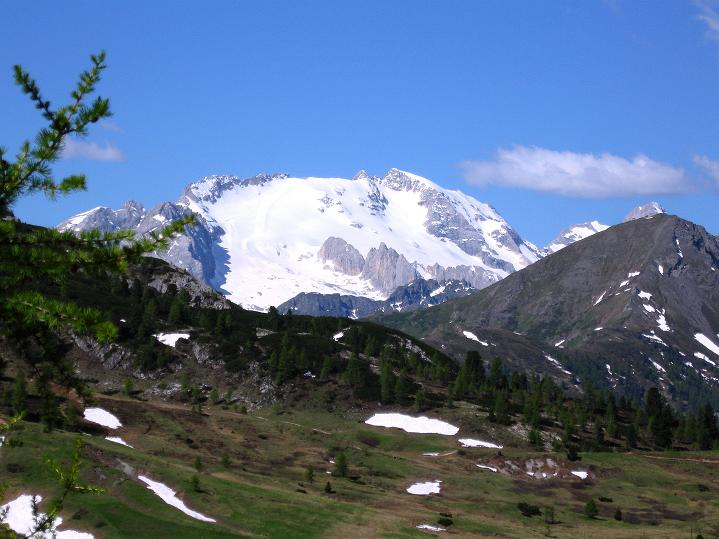 Foto: Andreas Koller / Klettersteig Tour / Via ferrata Col dei Bos / Via ferrata della Piramide (2559m) / Die Marmolada (3343 m) / 19.06.2009 23:42:13